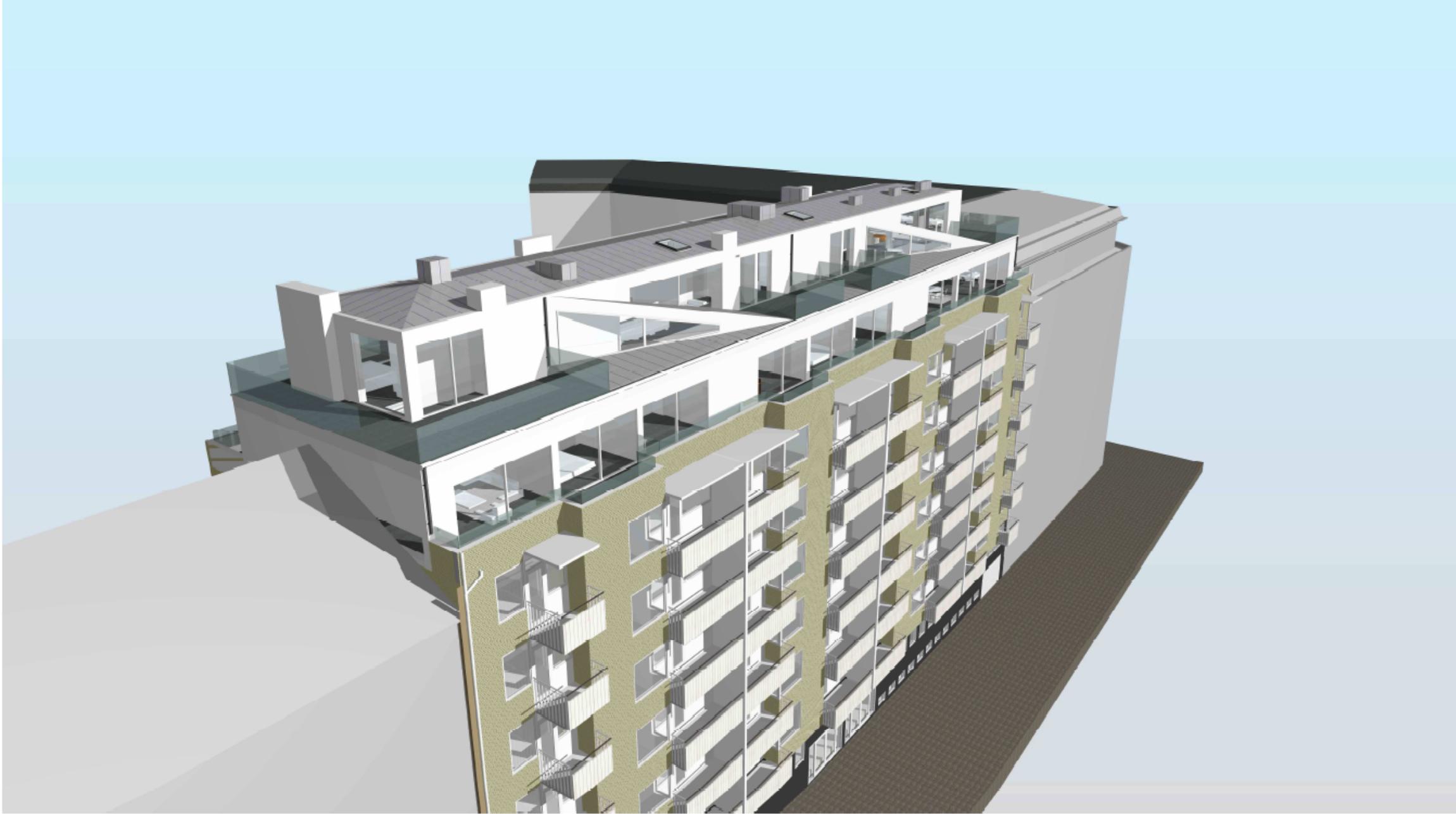 RIMA bygg. Vindsvåningar med sofistikerat ljud & bild